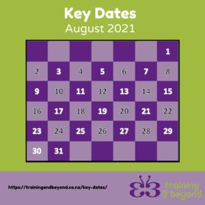 August Key Dates