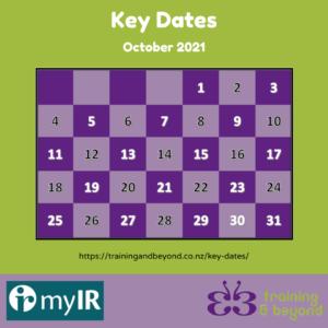 October Key Dates